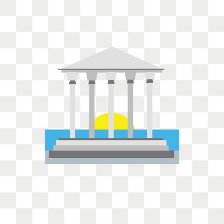 Parthenon-Vektor-Symbol auf transparentem Hintergrund isoliert, Parthenon-Logo-Konzept