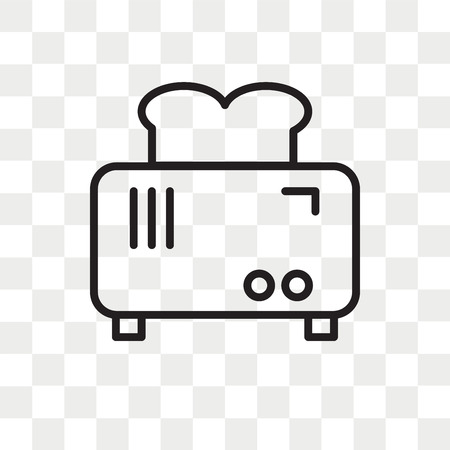 Toaster vector icon isolated on transparent background, Toaster logo concept