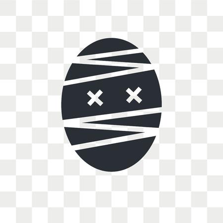 Mummy vector icon isolated on transparent background, Mummy logo concept
