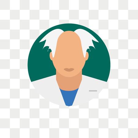 Wetenschapper vector pictogram geïsoleerd op transparante achtergrond, wetenschapper logo concept