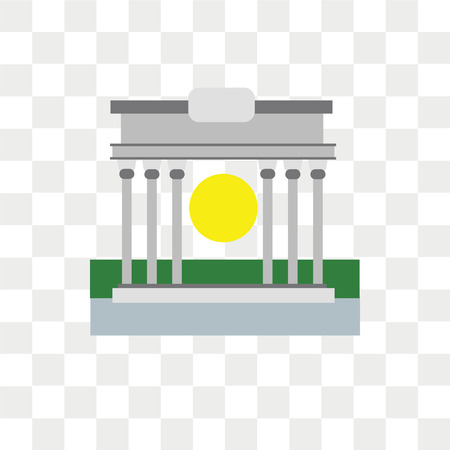 Brandenburg gate vector icon isolated on transparent background, Brandenburg gate logo concept
