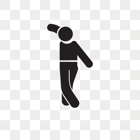 Man dancing vector icon isolated on transparent background, Man dancing logo concept