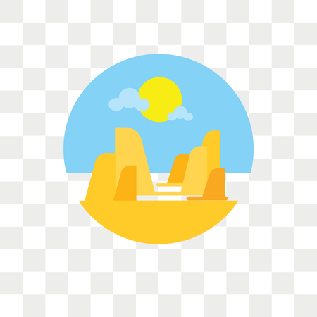 Grand canyon vector icon isolated on transparent background, Grand canyon logo concept Illustration