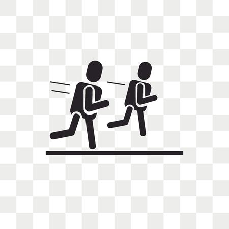 Marathon vector icon isolated on transparent background, Marathon logo concept