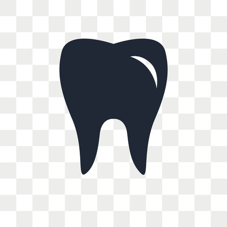 Dental vector icon isolated on transparent background, Dental logo concept