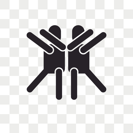 Dancing vector icon isolated on transparent background, Dancing logo concept