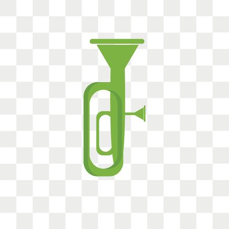 Tuba vector icon isolated on transparent background, Tuba logo concept  イラスト・ベクター素材