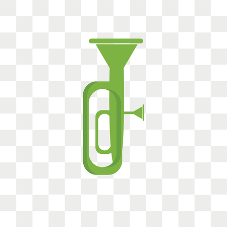 Tuba vector icon isolated on transparent background, Tuba logo concept Ilustração