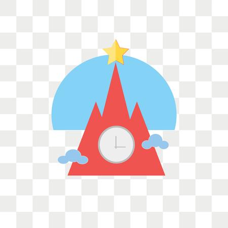 Kremlin vector icon isolated on transparent background, Kremlin logo concept Illustration