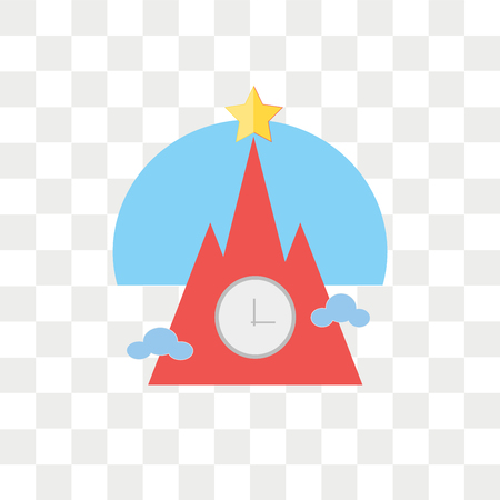 Kremlin vector icon isolated on transparent background, Kremlin logo concept Иллюстрация