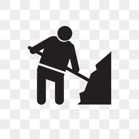 Worker loading vector icon isolated on transparent background, Worker loading logo concept