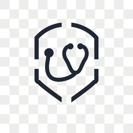 Medical insurance vector icon isolated on transparent background, Medical insurance logo concept Vectores