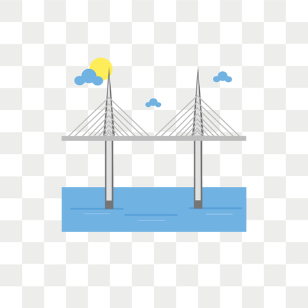 Millau viaduct vector icon isolated on transparent background, Millau viaduct logo concept