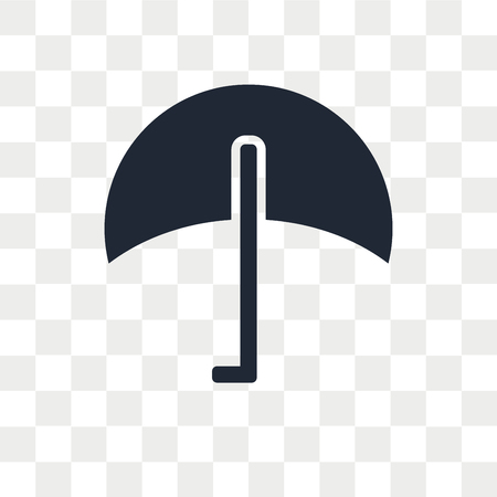 Umbrella vector icon isolated on transparent background, Umbrella logo concept