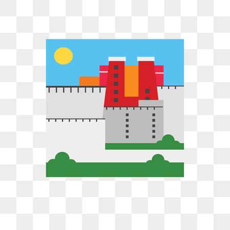 Potala palace vector icon isolated on transparent background, Potala palace logo concept Illustration