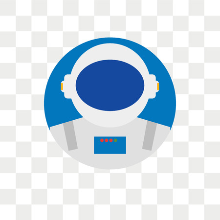 Astronaut vector icon isolated on transparent background, Astronaut logo concept Vectores