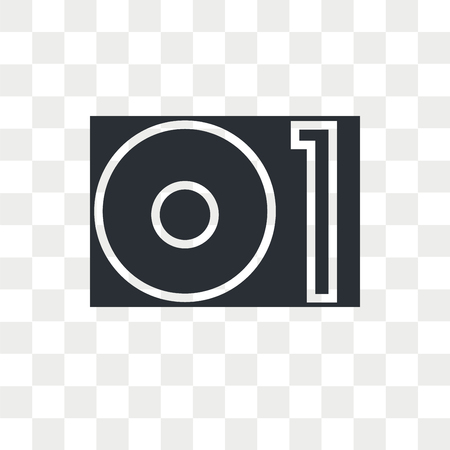 Turntable vector icon isolated on transparent background, Turntable logo concept