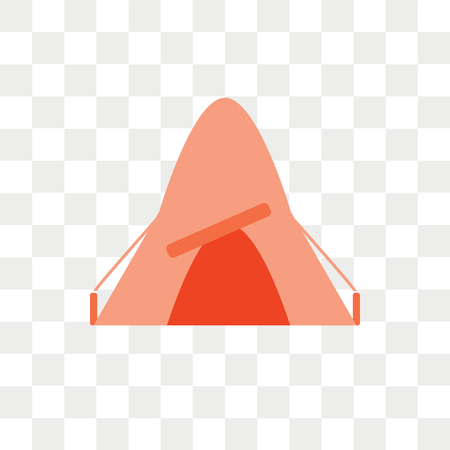 Tent vector icon isolated on transparent background, Tent logo concept Vectores