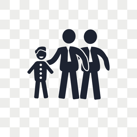 Gay Family vector icon isolated on transparent background, Gay Family logo concept