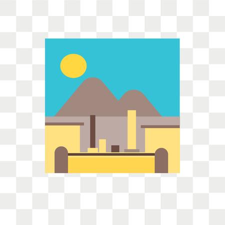 Pompeji-Vektorikone lokalisiert auf transparentem Hintergrund, Pompeji-Logo-Konzept