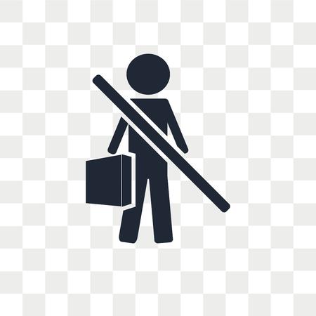 Unbeschäftigte Vektorikone lokalisiert auf transparentem Hintergrund, arbeitsloses Logo-Konzept Logo