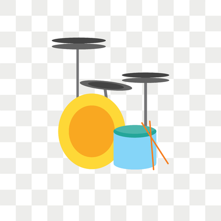 Drum vector icon isolated on transparent background, Drum logo concept