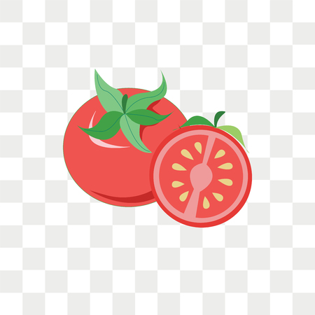Tomato vector icon isolated on transparent background, Tomato logo concept
