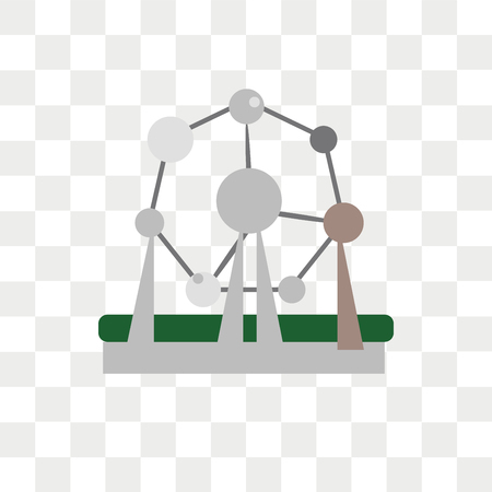 Atomium vector icon isolated on transparent background, Atomium logo concept