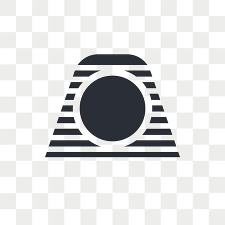 Pharaoh vector icon isolated on transparent background, Pharaoh logo concept Illustration