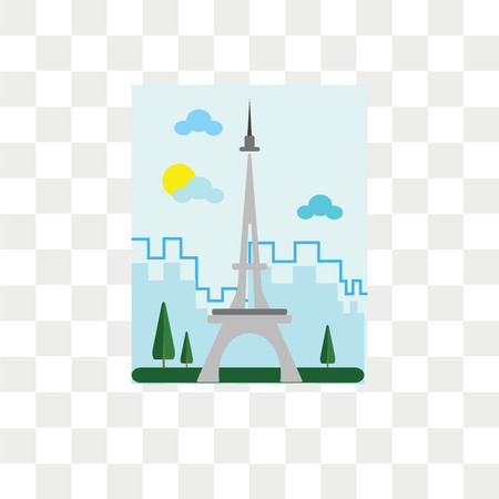 Tokyo tower vector icon isolated on transparent background, Tokyo tower logo concept Illustration
