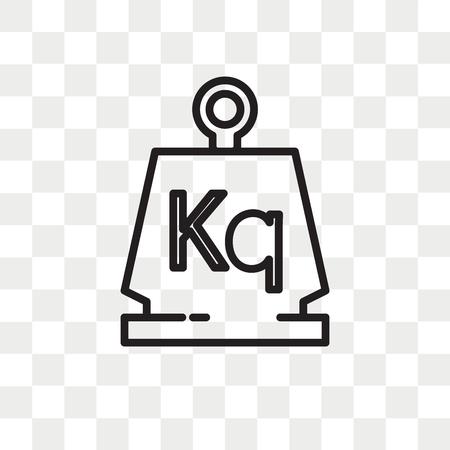 Gewicht vector pictogram geïsoleerd op transparante achtergrond, gewicht logo concept Logo