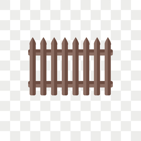 Fence vector icon isolated on transparent background, Fence logo concept