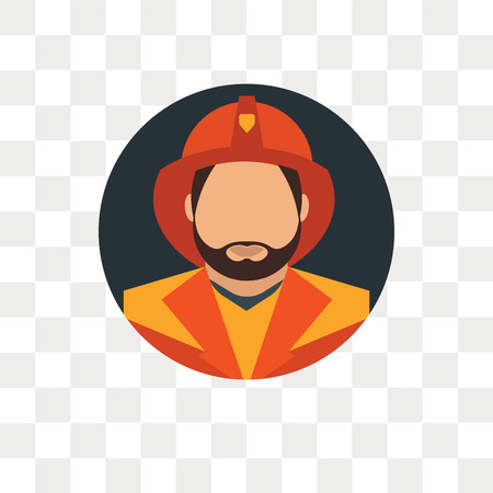 Firefighter vector icon isolated on transparent background, Firefighter logo concept Stockfoto - 108456046