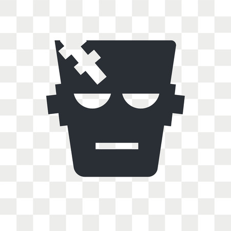 Frankenstein vector icon isolated on transparent background, Frankenstein logo concept Vettoriali