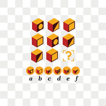 Test d'intelligenza. Scegli la risposta corretta. Compito logico, gioco educativo per bambini