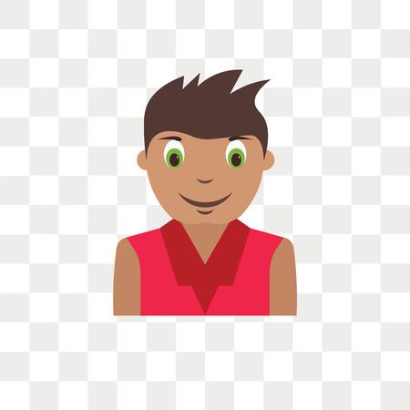 Boy kid avatar vector icon isolated on transparent background, Boy kid avatar logo concept
