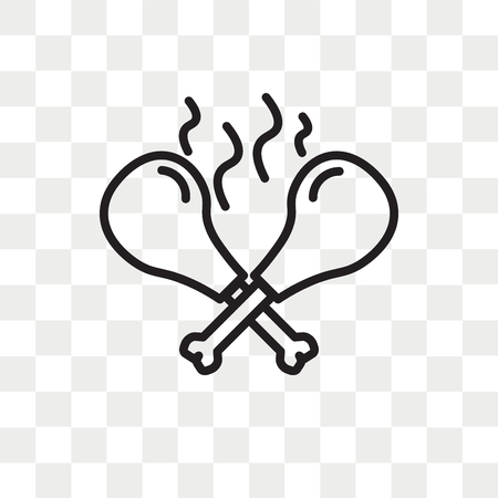 Kip vector pictogram geïsoleerd op transparante achtergrond, kip logo concept