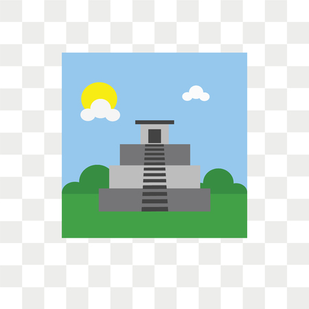 Machu picchu vector icon isolated on transparent background, Machu picchu logo concept