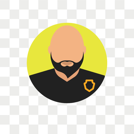 Bouncer vector icon isolated on transparent background, Bouncer logo concept