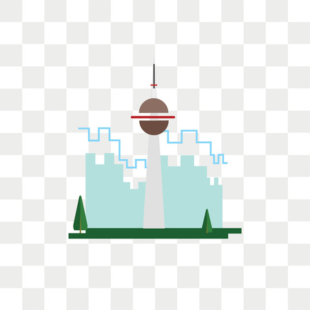 Cn tower vector icon isolated on transparent background, Cn tower logo concept