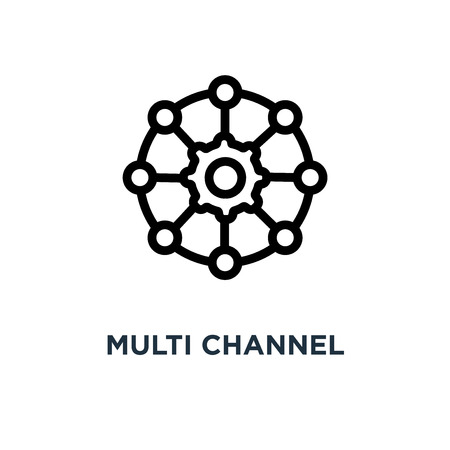 multi channel icon. multi channel concept symbol design, vector illustration 일러스트