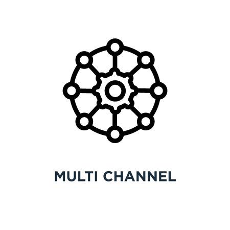 multi channel icon. multi channel concept symbol design, vector illustration Vettoriali