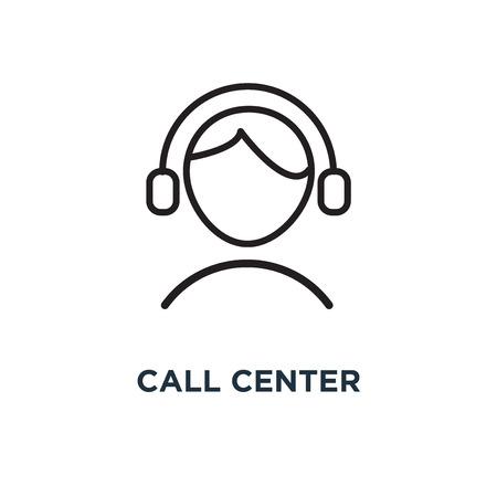 call center icon. call center concept symbol design, vector illustration