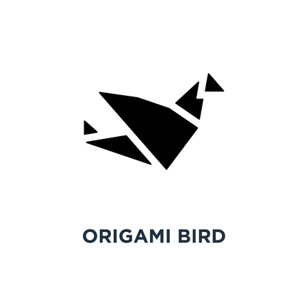 Origami bird icon. Simple element illustration. Bird paper concept symbol design, vector logo illustration. Can be used for web and mobile.