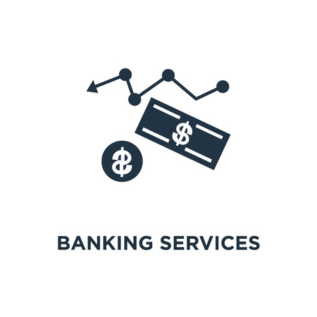 banking services icon. financial report graph, retirement savings account, superannuation, interest rate concept symbol design, return on investment, budget planning, income growth chart, mutual fund vector illustration