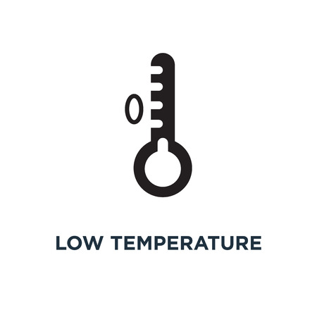 Low temperature icon. Simple element illustration. Low temperature concept symbol design, vector logo illustration. Can be used for web and mobile. Logo