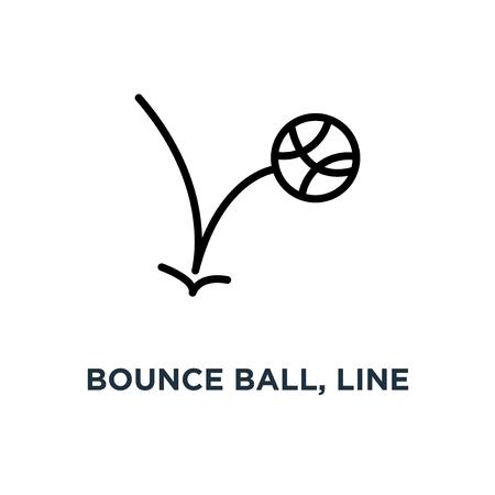 bounce ball, line sign icon. eps10 concept symbol design, vector illustration Vetores