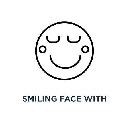 Smiling Face With Smiling Eyes Emoticon Icon Linear Simple Element