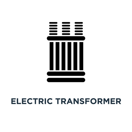 electric transformer icon. electric transformer concept symbol design, vector illustration