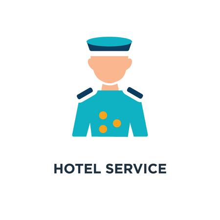 concept de service hôtelier représenté par l'icône de groom. et conception de symbole concept plat, illustration vectorielle
